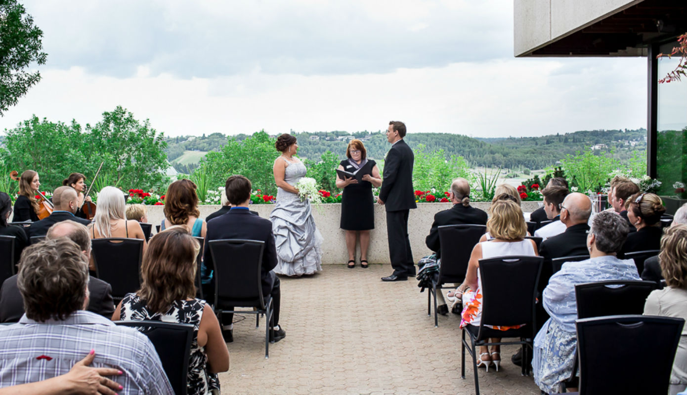 Riverview Room Wedding Patio